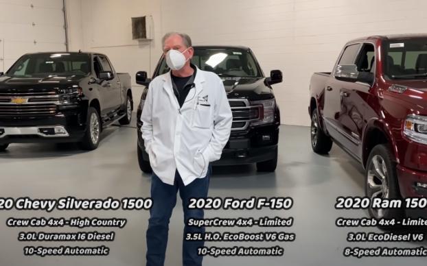 Cybertruck vs the F150 Dodge Ram and Silverado
