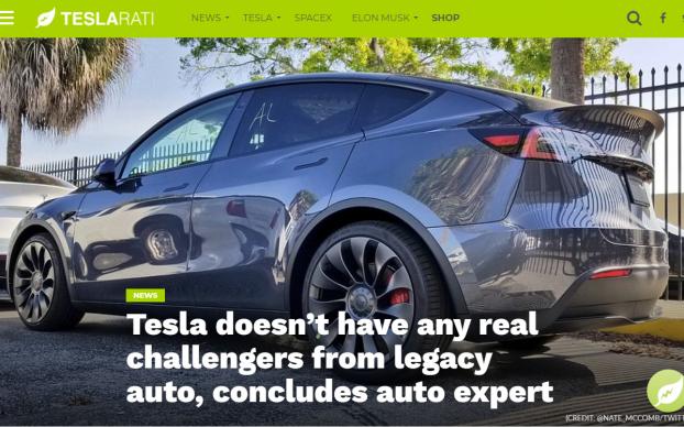 Teslarati Article Sandy Munro thinks Tesla has no competitors.