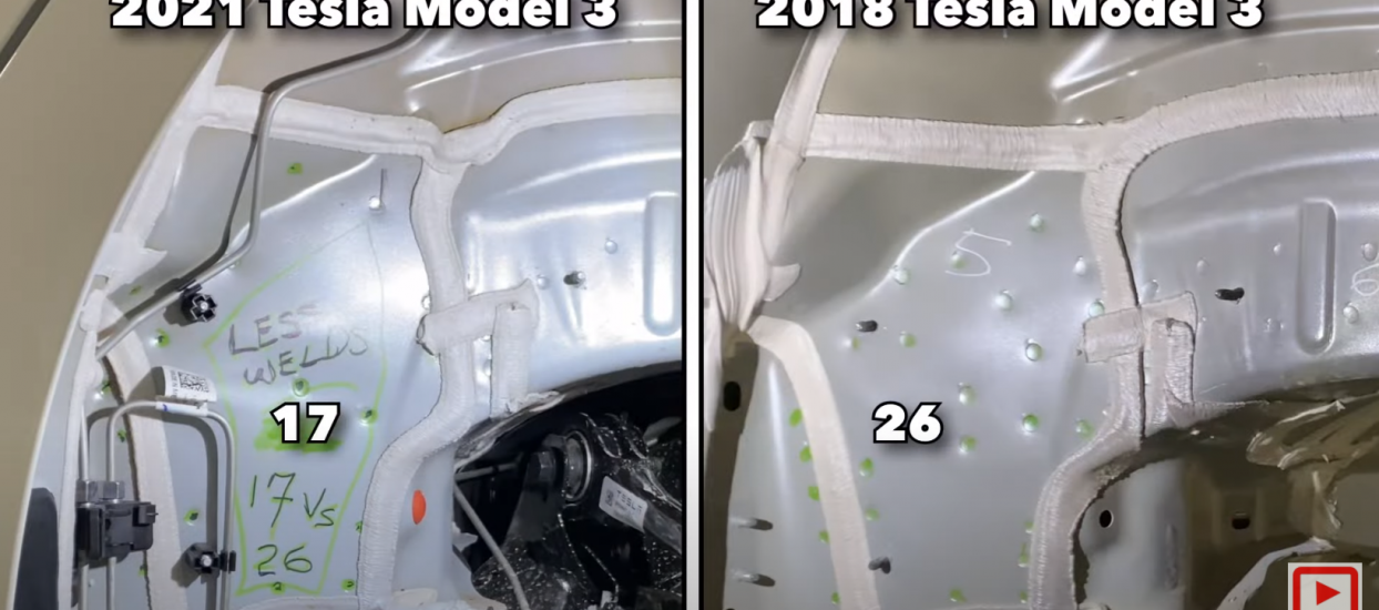 2021 Tesla Model 3 E5 Rear Body Review Megacastings