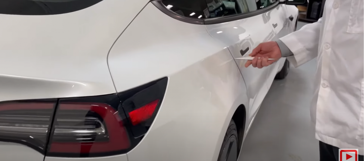 Sandy first look at the new Tesla Model 3