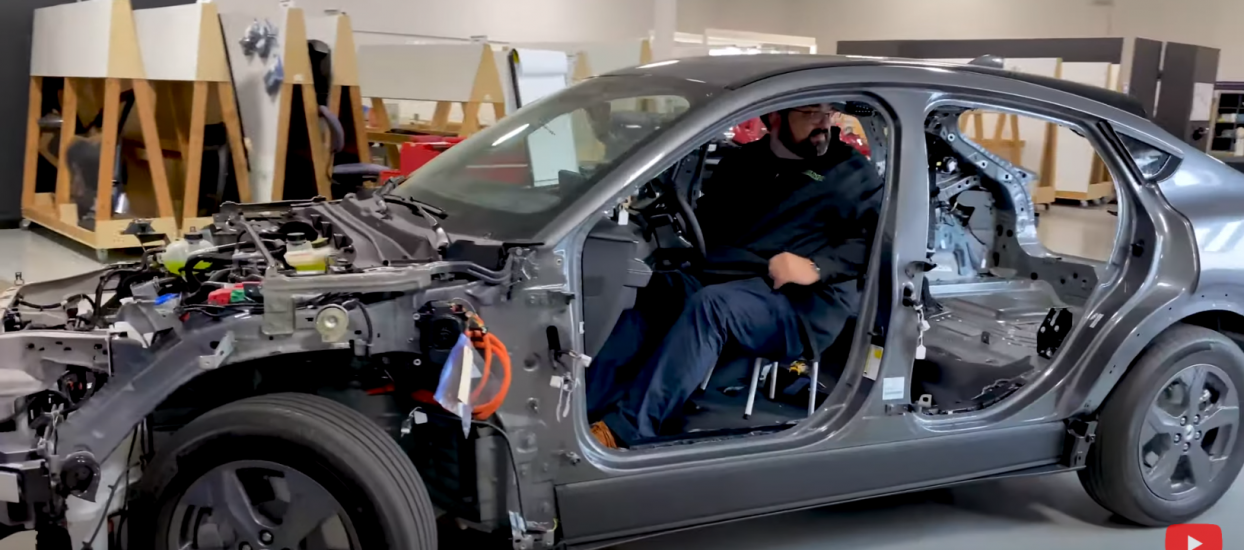 Ben takes the mostly disassembled Ford Mach-E for a joy ride