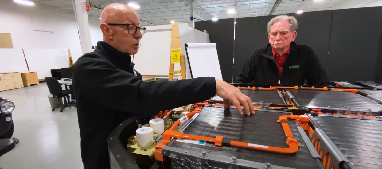 Have a look inside the Ford Mach-E battery box with Mark Ellis and Sandy Munro