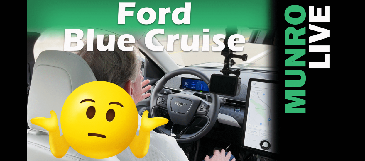 Sandy tries out Ford Mach-E trying out it's BlueCruise hands-free driver assist technology