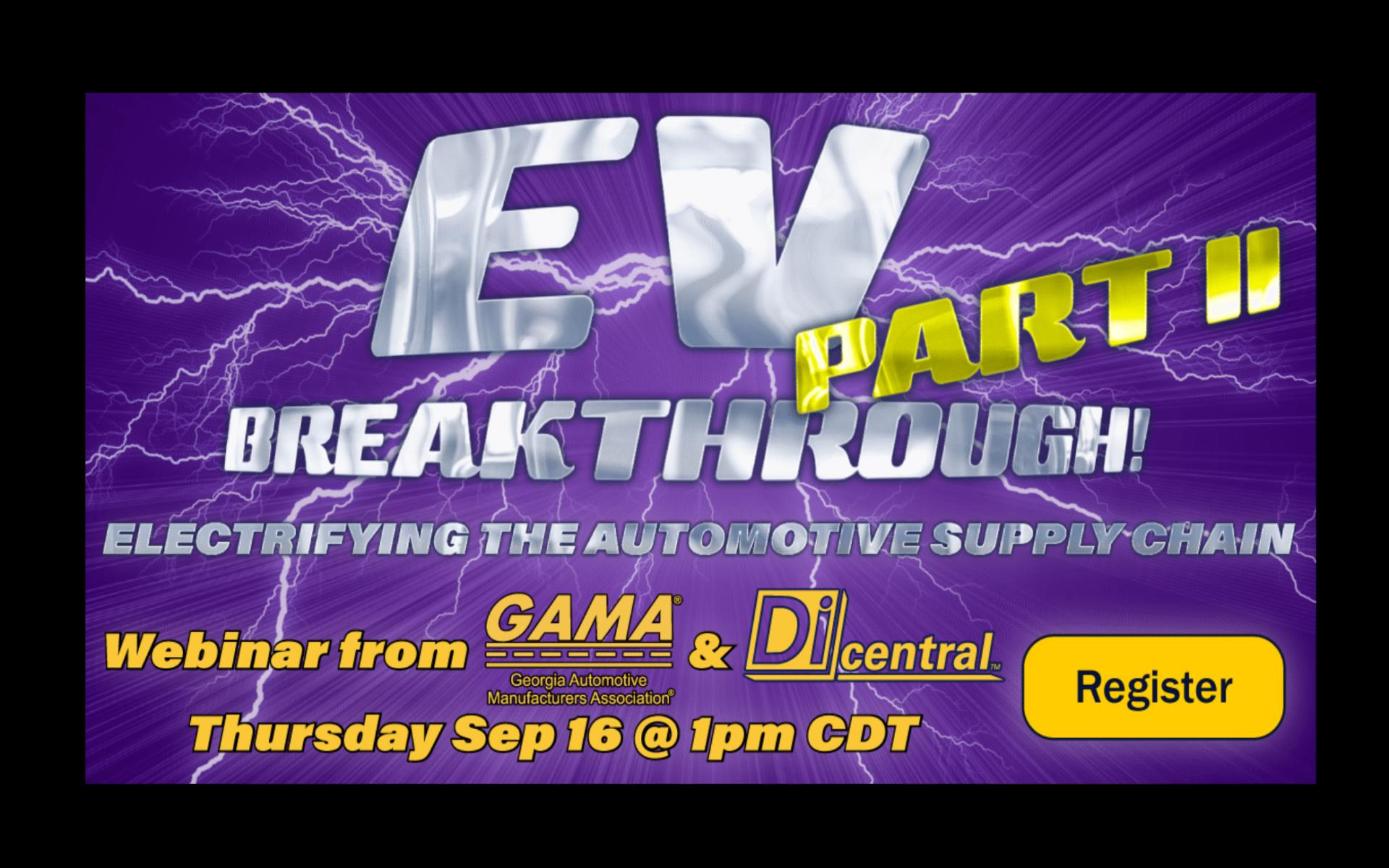 EV Breakthrough Part 2 Webinar September 16th 2021