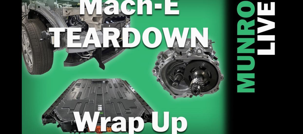 Ford Mach-E Teardown Wrap Up Munro