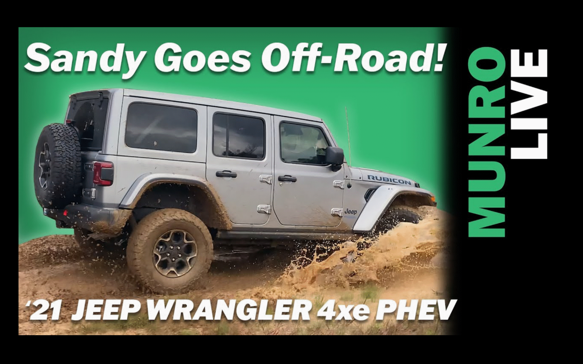 Jeep Wrangler 4xe Off-roading with Sandy Munro